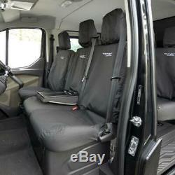 Ford Transit Custom 2019+ Front Seat Covers & Transit Custom Embroidery Blk 431