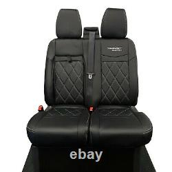 Ford Transit Custom 2021+ Tailored Leatherette Front Seat Covers & Logo 602