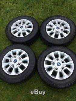 Ford Transit Custom Alloy Wheels Continental Tyres Gloss Silver Mk9 Mk8 Mk7