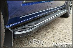 Ford Transit Custom Black Side Steps Lwb Side Bars Running Boards Tourneo Pair