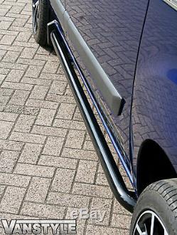 Ford Transit Custom Black Sportline Side Bars Lwb 2012+ Tourneo Tough Bar Guard