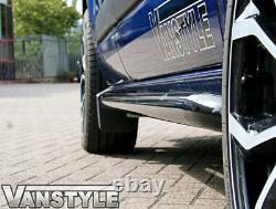 Ford Transit Custom Black Sportline Side Bars Swb 2018+ Sport Tourneo Not Chrome