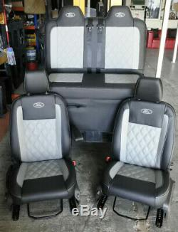 Ford Transit Custom, Connect seats re-trimming, carpet lining, rock and roll beds