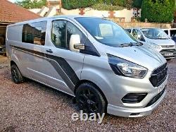 Ford Transit Custom Euro 6 Lwb 2.0 Tdci Crew Cab Rs Edition 2018 68 Plate No Vat
