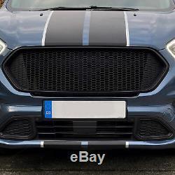 Ford Transit Custom Front Grille Matte Black New Shape