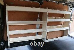 Ford Transit Custom LWB LIGHTWEIGHT Plywood Racking Shelving OS Angled F & Rear