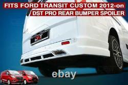 Ford Transit Custom Lower Bumper Rear Splitter Skirt Spoiler 2012 2018