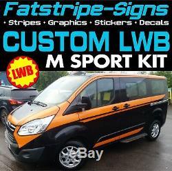 Ford Transit Custom Lwb M Sport Graphics Stickers Decals Stripes M-sport Van