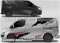 Ford Transit Custom Rally 010 motorsport racing graphics stickers decals vinyl
