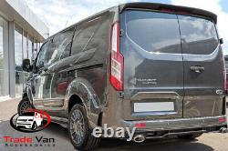 Ford Transit Custom Rear Spoiler Twin Door Frozen White Custom Torneo Styling