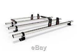 Ford Transit Custom Roof Bars, Low Roof 3 x Roof Bars+Rear Roller, 75.5KG PER BAR
