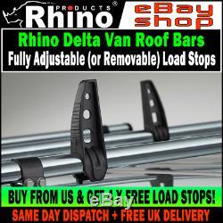Ford Transit Custom Roof Rack Bars x3 Rhino Delta Bars 2013-2019 SWB-LWB H1 Van