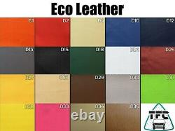 Ford Transit Custom SEAT COVERS FULL ECO LEATHER Bentley Stitching and 3 logos