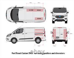 Ford Transit Custom SWB Ply Van Racking Shelving XL Size Dbl units OS & NS Rear