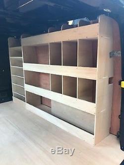 Ford Transit Custom SWB Plywood Van Shelving Racking System Case Storage Unit