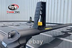 Ford Transit Custom SWB Roof Rail and Cross Bar Rack Set Black with load stops