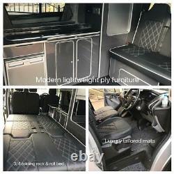 Ford Transit Custom SWB kitchen furniture Assembled camper van lightweight Ply