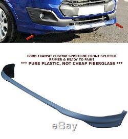 Ford Transit Custom Sportline Type Front Bumper Lip Spoiler Splitter 15+ Primer