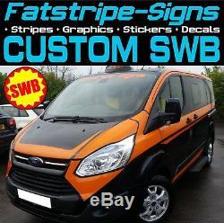 Ford Transit Custom Swb M Sport Graphics Stickers Decals Stripes M-sport Van