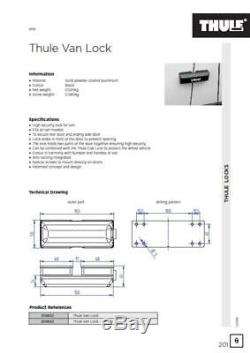 Ford Transit Custom Thule Van Door Security Lock Twin Pack 309833
