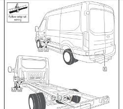 Ford Transit Custom Tow Bar Wiring 2.2 L Euro 5 7 Pin DEDICATED Electrics