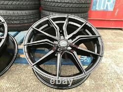 Ford Transit Custom mk7 Tourneo 1250kg Alloy Wheels Black Aluwerks Spyder 5x160