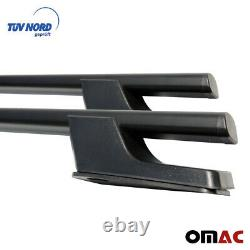 Für Ford Transit Tourneo Custom Dachreling Alu Schwarz Kurzer TüV ABE 2013-2021