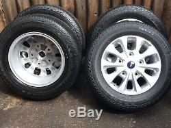 Genuine 16 17 18 Ford Transit Custom Mk8 Mk7 Mk6 Alloy Wheels 215 65 16 Tyres