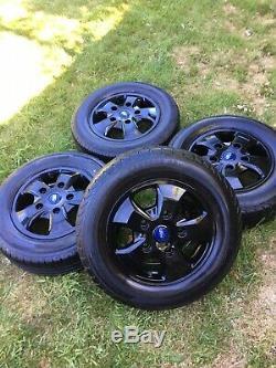 Genuine Ford Transit Custom Gloss Black Mk9 Mk8 Mk7 Limited 16 Alloy Wheels