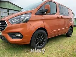 Genuine Winter 16 Ford Transit Custom Gloss Black Mk9 Mk8 Limited Alloy Wheels