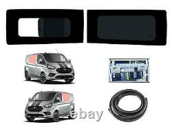 Left Opening Right Fixed Dark Tint Windows Fitting Kit for Ford Transit Custom