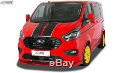 RDX Frontspoiler VARIO-X schwarz matt für FORD Transit Custom / Tourneo Custom