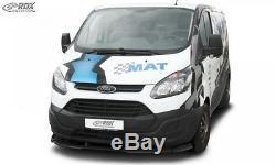 RDX Spoilerlippe für Ford Transit Custom / Tourneo Custom Front Ansatz Schwert