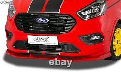 RDX Spoilerlippe für Ford Transit Custom Tourneo ST Line Frontspoiler Schwert