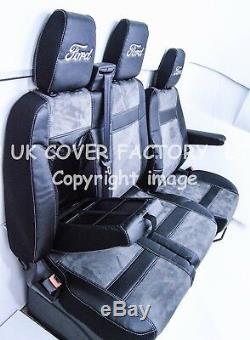 Ready 4 Dispatch 2012-19 Ford Transit Custom Van Seat Cover Dark Grey Alcantara