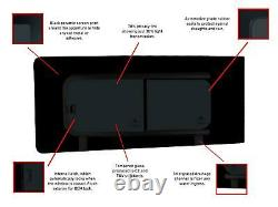 Right Hand Side Panel Opening Glass Window Dark Tint for Ford Transit Custom