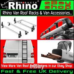 (SWB, LOW, TWIN) Rhino Aluminium Roof Rack + Roller Ford Transit Custom 2013-2020