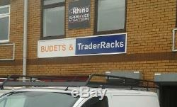 (SWB, Low Roof) Rhino Modular Van Roof Rack +Roller Ford Transit Custom 2013-2019