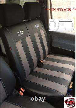 Tailored Eco-Leather & Alicante Seat Covers 2+1 FORD TRANSIT CUSTOM 2014 2021