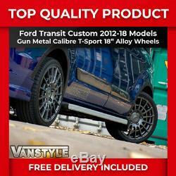 Transit Custom 2012-18 Calibre T-sport Gun Metal Load Rated 5x160 18 Alloy Set