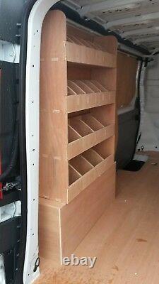 Transit Custom SWB L1 Plywood Van Shelving Racking System Tool Storage Unit Div