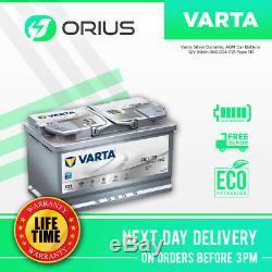Varta Silver Dynamic AGM Car Battery 12V 80Ah 800CCA F21 Type 115